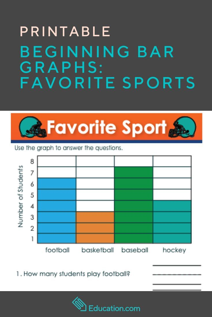 Beginning Bar Graphs Favorite Sports Worksheet Education Com Bar Graphs Graphing Graphing Activities