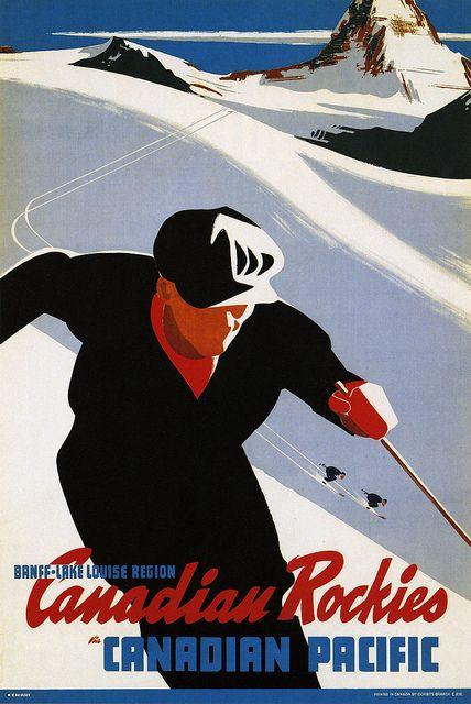 vintage ski poster - Canadian Pacific ~ Canadian Rockies 1941