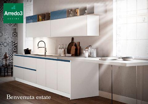 D'ESTATE le nostre cucine #Arredo3 sono ancora più belle e luminose! Scopri i nuovi modelli http://www.arredo3.it/cucine-moderne/nuovi-modelli/