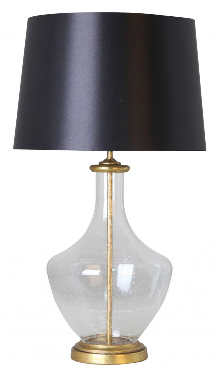 Black and gold always adds a touch of formality to a room. Incorporate our stylish Admiral Table Lamp, featuring a textured glass base and black shade to bedside tables for classic elegance.