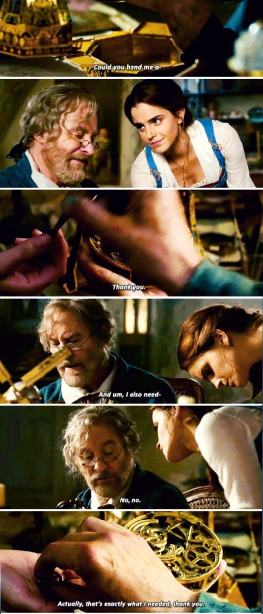 Beauty and the Beast; this reminds me so much of me and my dad!