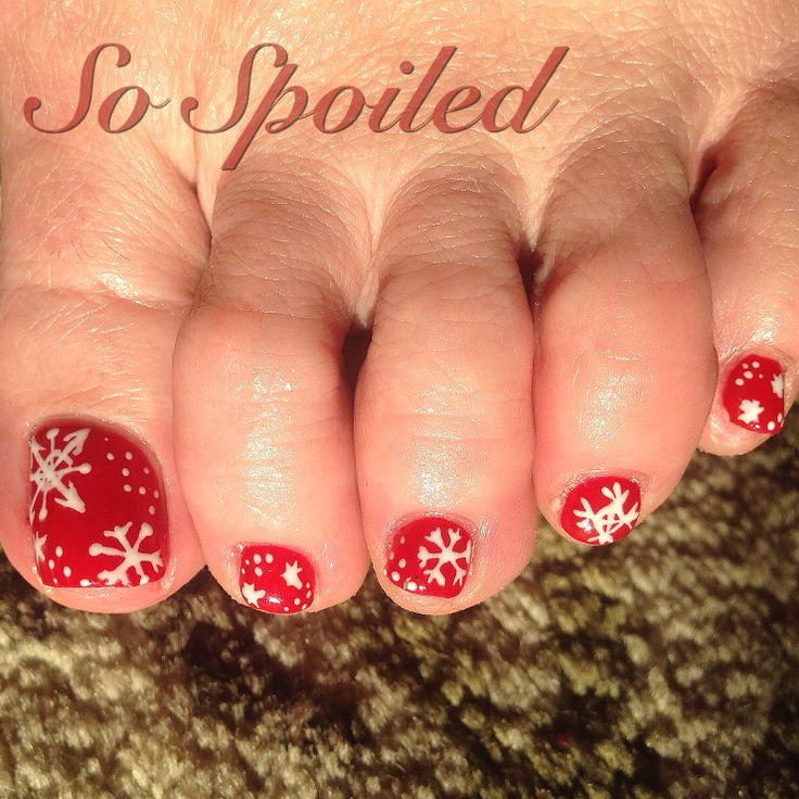 Hand Painted Christmas Nail Art: Pin By Angela Quiring On Bio Sculpture @ So Spoiled By