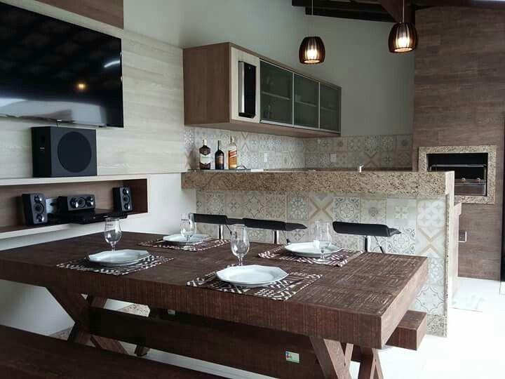 Um espaço para o churrasco com a família e os amigos.