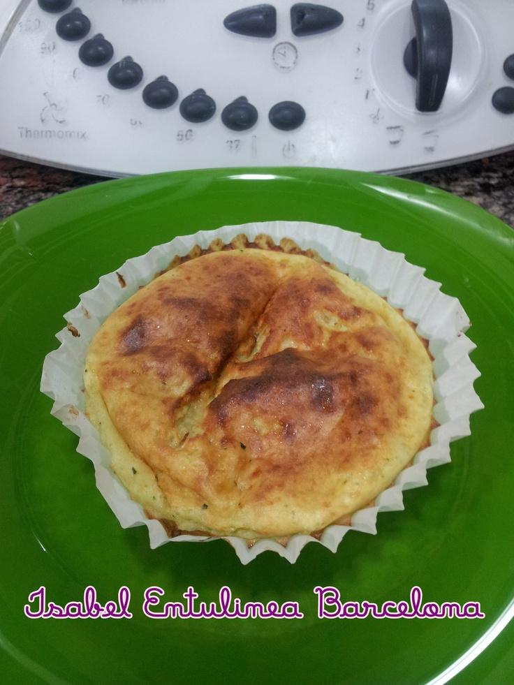 Pastelito de calabacín y parmesano.  3 Pp.