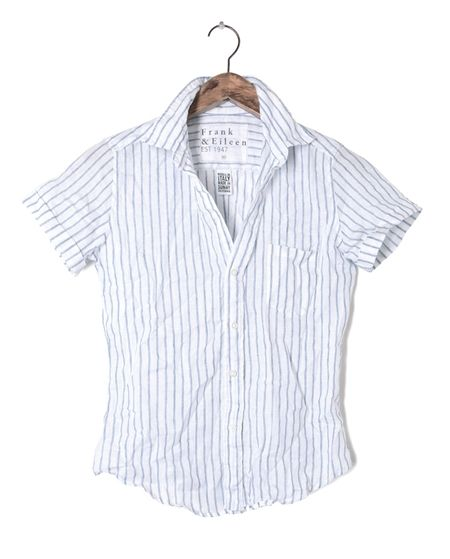 Womens Billy Jean Stripe Linen Shirt