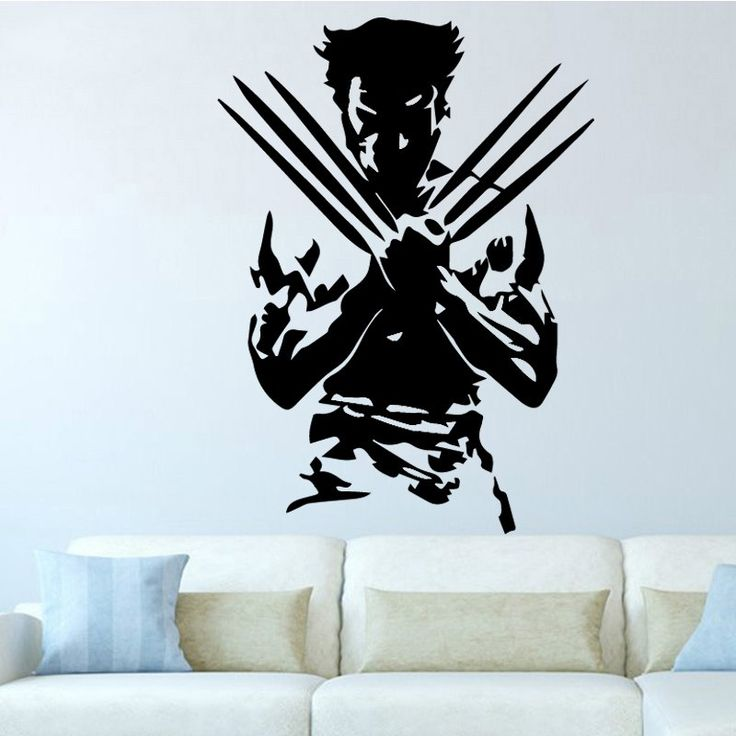 AiyoAiyo Wolverine Super Hero Decorate Wall Sticker Poster ...