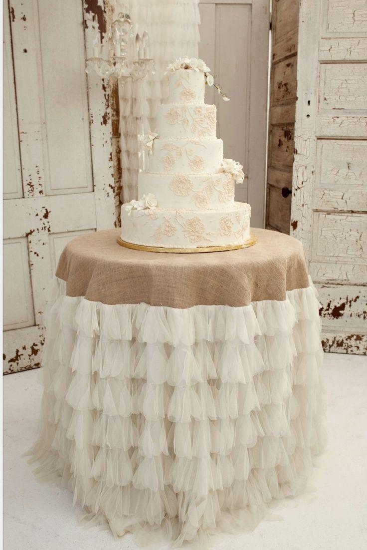 Burlap and lace linen