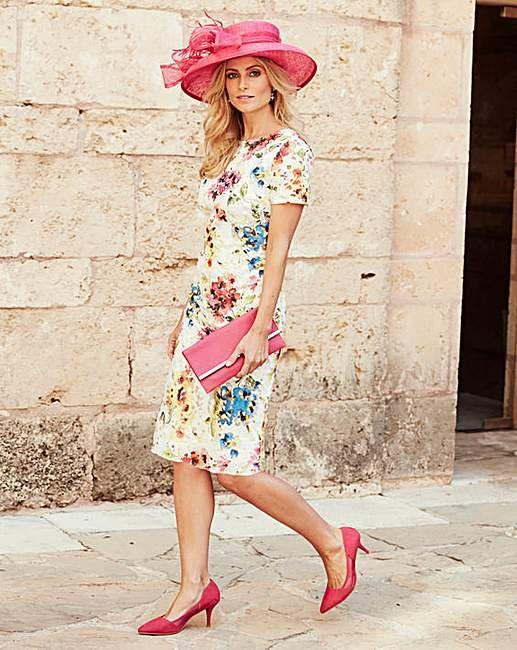Joanna Hope Print Lace Dress | Marisota