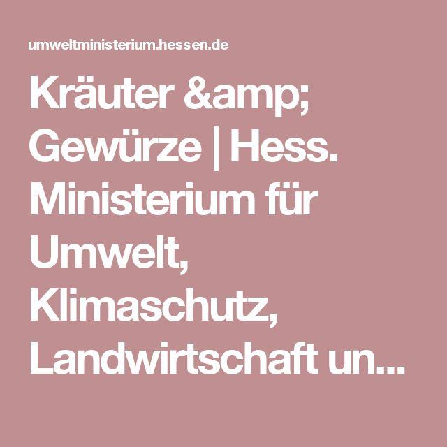 Kräuter & Gewürze | Hess. Ministerium für Umwelt, Klimaschutz, Landwirtschaft und Verbraucherschutz