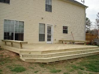 how to build a raised concrete deck