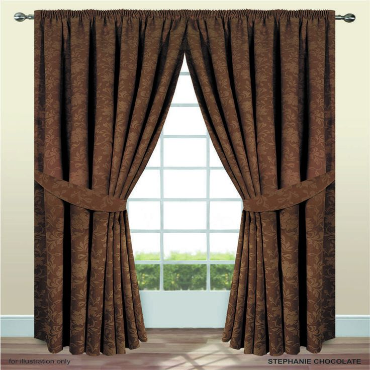 JACQUARD LUXURY Fully Lined Pencil Pleated Heavy Weight Curtain Free UK Postage | eBay