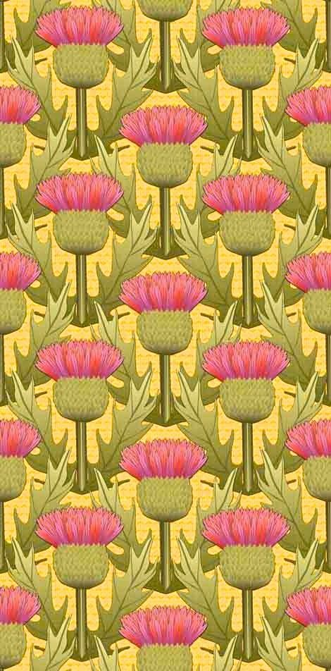 Beautiful Field of Thistles Paper