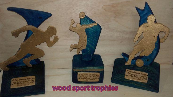 wood sport trophies