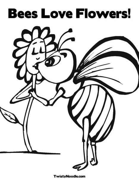 59 best bee coloring pages images on pinterest