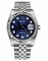 Rolex Datejust 36mm Acier Bleu Jubilee Cadran Jubilee Bracelet 116234 BLJDJ