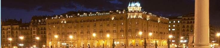 Hotel Maria Christina, luxury Hotel located central San Sebastian. I can't believe this is where I'm staying!