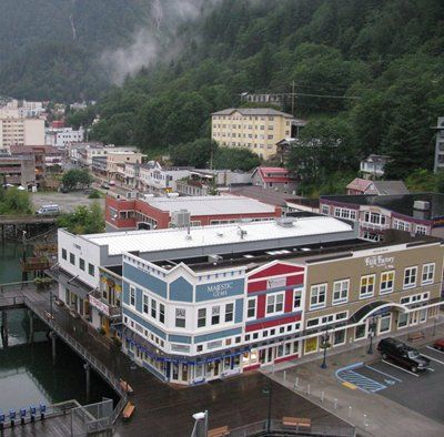 The colorful town of Juneau... It can only be reached by Sea or by Air