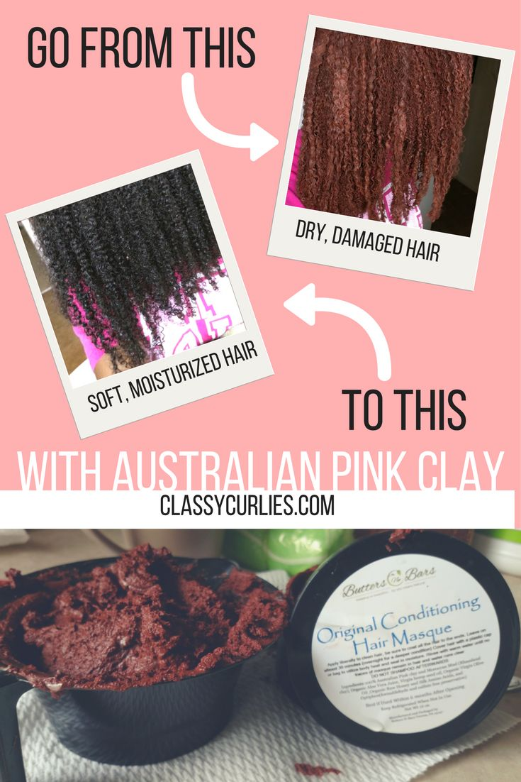 Repair your hair with Australian pink clay. This deep conditioner will detox and add moisture to your hair. It is one of the best clay masks and mud masks for hair to achieve long term healthy hair -ClassyCurlies