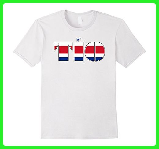 Mens Costa Rican Flag Tio Tee-Shirt for Hispanic Uncle Large White - Cities countries flags shirts (*Amazon Partner-Link)