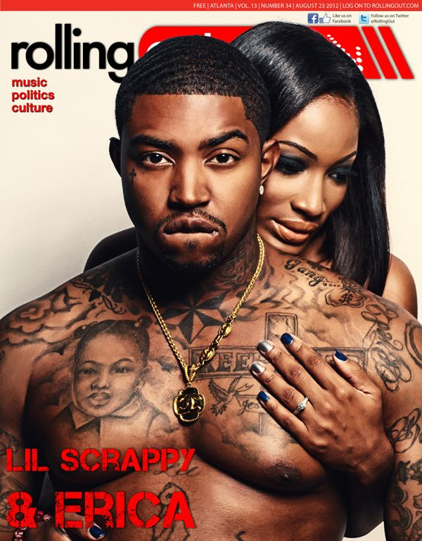 Erica Puts Them Paws On Lil Scrappy On The Cover of Rolling Out Magazine
