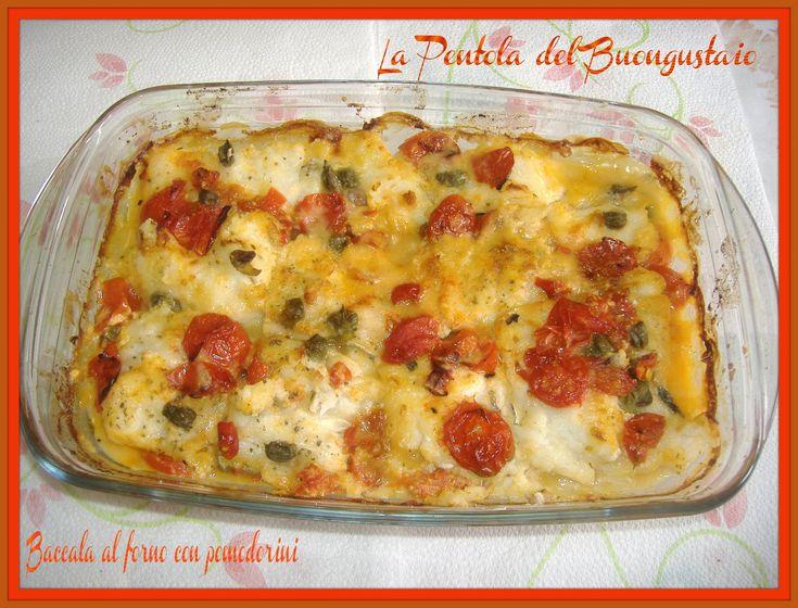 Baccalà al forno con pomodorini