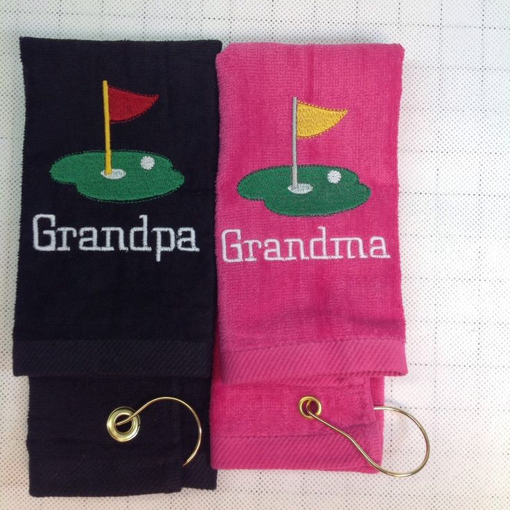 Golf towels make great Christmas gifts for any golfer.
