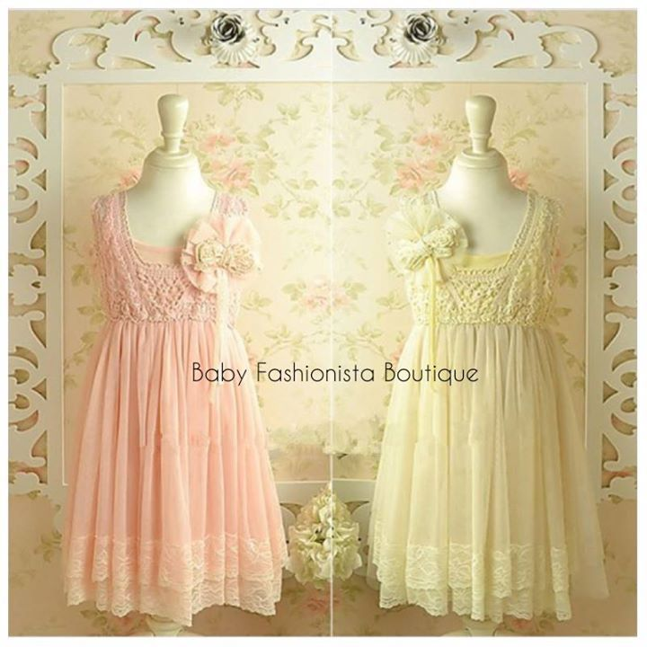 """""""FAIRY"""" Elegant sleeveless dress with detailed lace work pearl Gorgeous and Subtle dress Size: 2T 3T 4T 4 5 6 7 8 Price: $56"""
