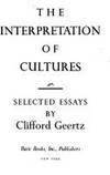Clifford Geertz  Thick Description