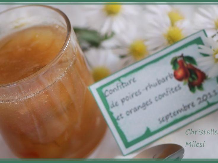 Confiture de poires-rhubarbe et oranges confites