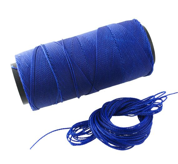 ROYAL BLUE Waxed POLYESTER  1mm cord/cording/string. Pack of 25ft.   $2