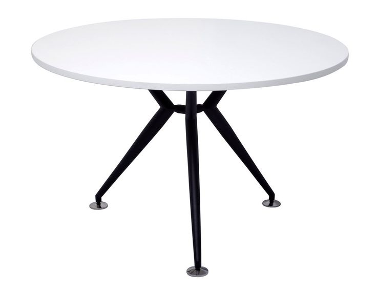 Rapidline Rapid Span Round Table White with Black Frame – Dunn Furniture