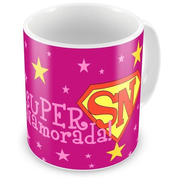 Caneca Porcelana Personalizada Super Namorada Estrelas - ArtePress   Brindes Personalizados, Canecas, Copos, Xícaras
