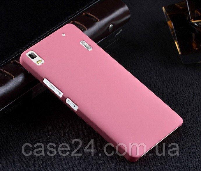 Пластиковый чехол для Lenovo K3 Note розовый, фото 1