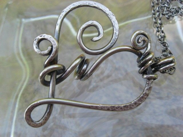 Sterling Silver Swirling Heart Pendant by LadyMaduzaDZines on Etsy