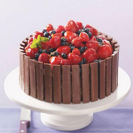 Chocolate Fruit Basket Cake Recipe Cake recipes ...