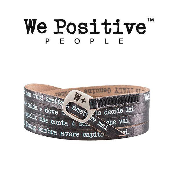 I nuovi bracciali in pelle We Positive My Song con le frasi celebri di Ligabue: portalo ai concerti e diventa un vero fan del Liga!