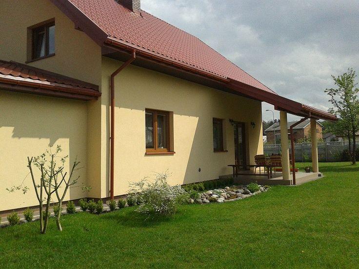 Widok na taras  #projekt #dom #taras