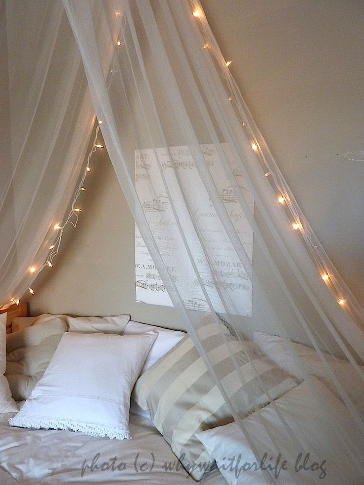 Nice Bed Canopy With Lights On Bed Canopy With Fairy Lights A String Of Fairy…