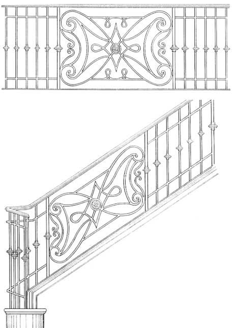 Stair Railing Designs ISR079