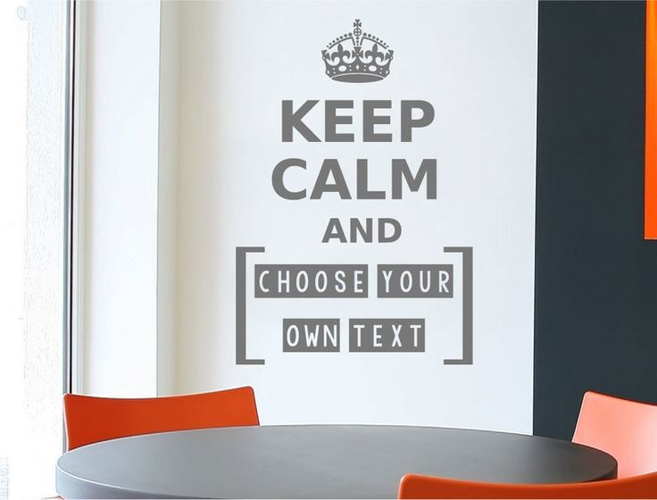 How cool would it be to make your own keep calm wall sticker, well now you can ! With your own choice of custom text, 3 sizes and numerous colour options to choose from, what better way to customise your decor ! FREE spreader **SHOP TODAY**