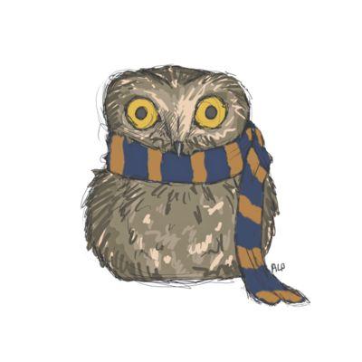 Ravenclaw Owl by Leegle-geegle.deviantart.com on @deviantART