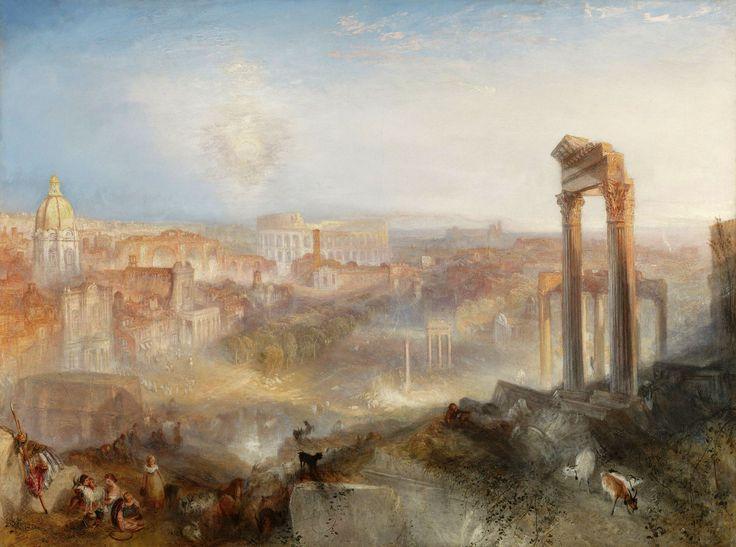 Joseph Mallord William Turner (British, 1775-1851), Modern Rome – Campo Vaccino, 1839, Oil on canvas, The J. Paul Getty Museum, Los Angeles