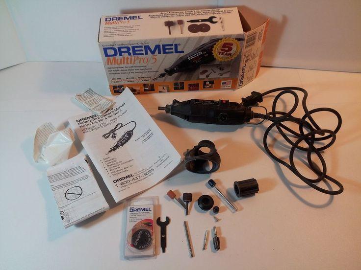 Original-Dremel Multipro-5 Electric Grinder Rotary 5 w/Accessories Tool Kit. USA #Dremel