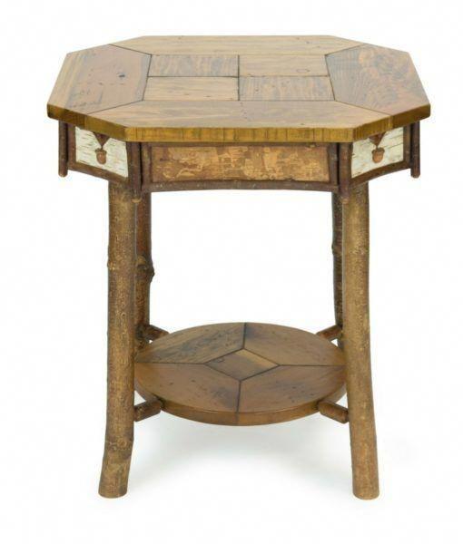 Adirondack Style End Table Cabin Cabinlife Rustic Furniture Rusticdecor Rustichomedecor