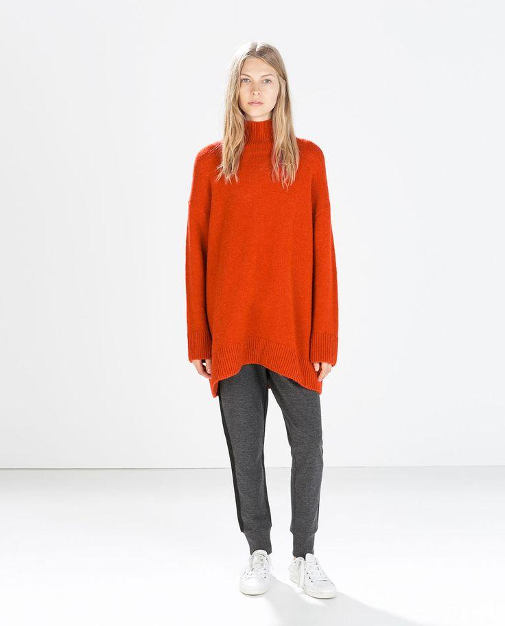 ZARA - SALE - 터틀넥 오버사이즈 스웨터