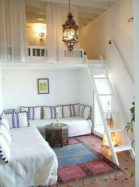 High roofs could accommodate for a mezzanine bedroom
