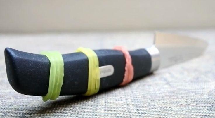 Gumki recepturki na rączce noża potrafią zdziałać cuda