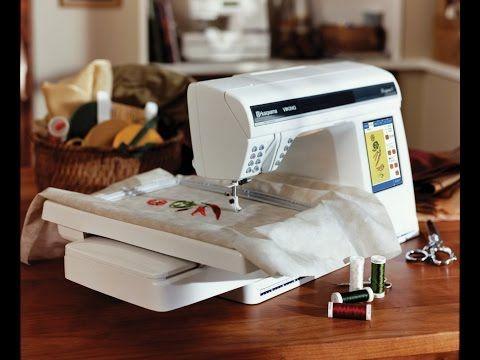 Как вышивать на бытовой швейной машинке - YouTube