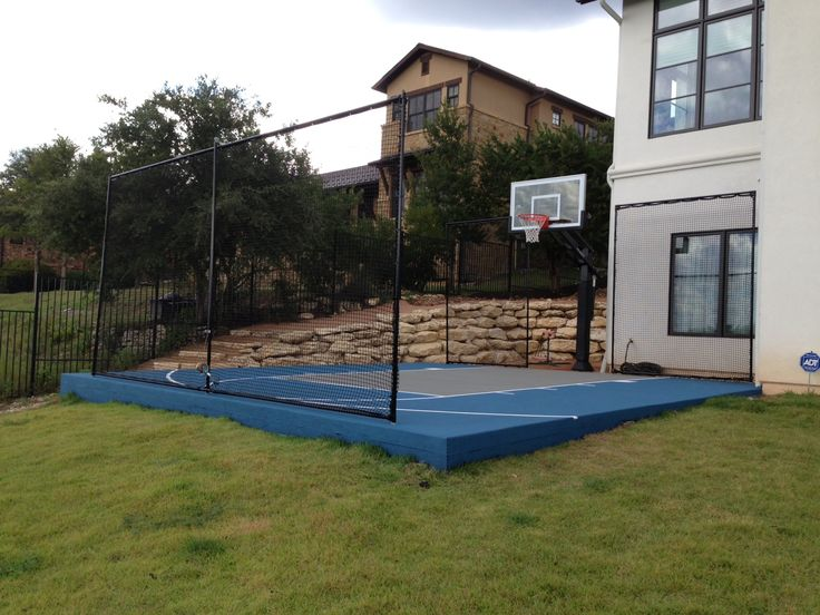 29 best images about backyard basketball on pinterest in for Building a half court basketball court