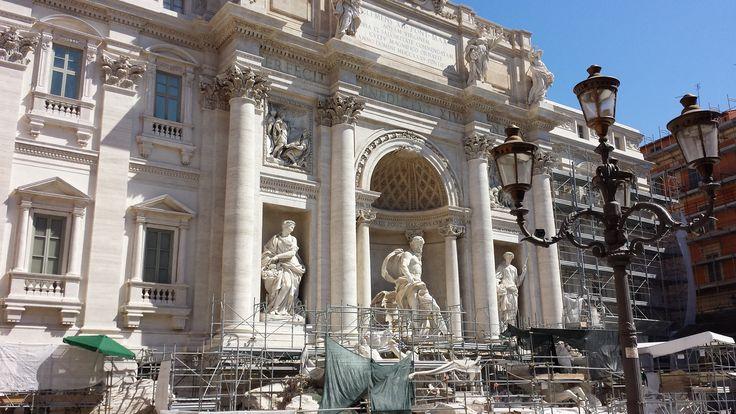 Rome, Italy - Trevi Fountain - Mediterranean Cruise (still under construction, but still beautiful)